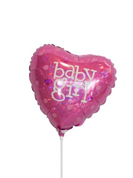 Balloons and Cards:  It's a Girl Foil Balloon